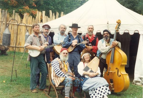 North Fork Rounders & Blue Eagle String Band<br> From left to Right<br>   Les Powers, Dave Neff, Tom Atwood, Roger Philips,Chris Wig, Mike Hopper, Ken Weiss and  Diana Neff<br><br>                                     Photo by Clif Wig