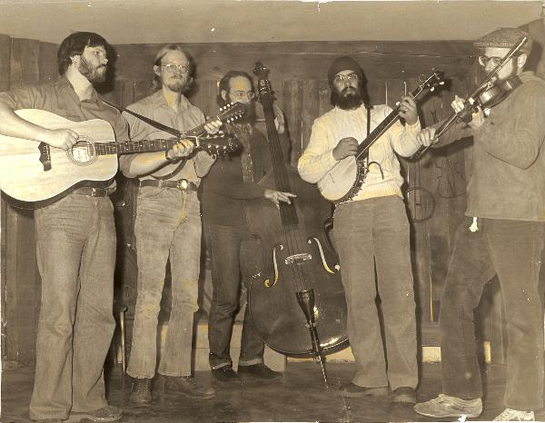 Left to Right<br>  John Sherman - guitar, Roger Philips - guitar & mendolin, Richard Kolb - bass, Chris Wig - banjo, Charlie Williams - fiddle
